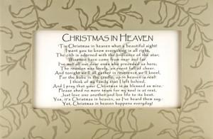 Christmas in Heaven Framed Print
