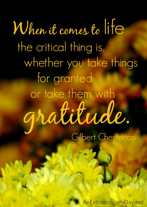... Things with Gratitude #Thankful Thursday :: AnExtraordinaryDay.net