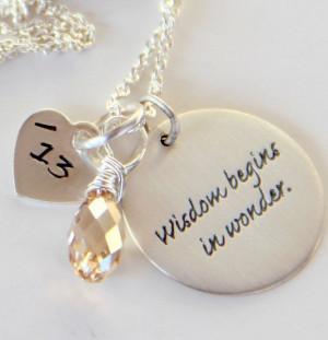 Gift For Teacher, Inspirational Sayings Jewelry, Silver Inspirational ...