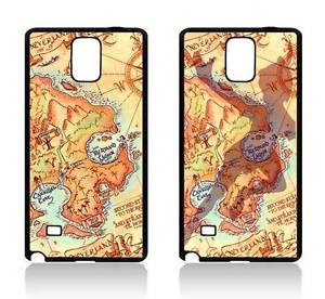 ... -SAMSUNG-GALAXY-NOTE-2-3-4-COVER-CASE-TINKERBELL-MAP-NEVERLAND-QUOTES