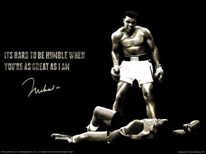 Muhammad Ali 'Hard to be Humble' wallpaper by pgilladdy