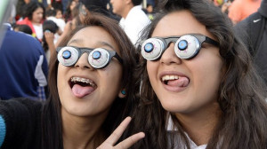 Largest gathering of people wearing googly eye glasses: Youth centre ...