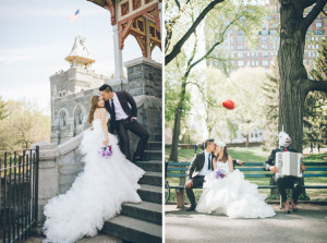 NYC wedding portraits captured around Manhattan and Brooklyn by NYC