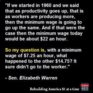 Sen. Elizabeth Warren Quote...