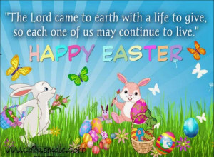 Cute Bunny & easter egg pictures with Happy easter quotes