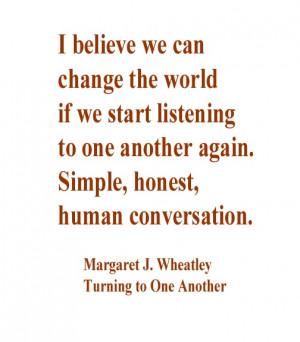 Margaret Wheatley quote