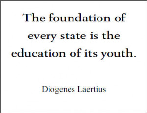 Diogenes Laertius Printable Quote on Education