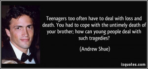 Teens dealing with death