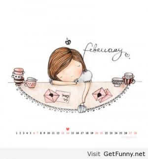 February Quotes   Hello february 2014 calendar free
