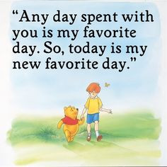 ... my favorite day. So, today is my new favorite day.