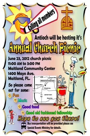 Go Back Pics For Church Picnic Flyer