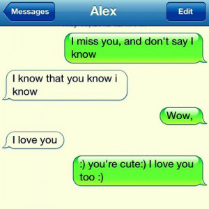 Gallery of Love Text Messages