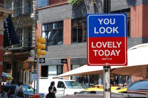 amazing, city, funny, good, mood, sign, street