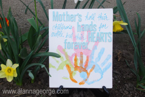 How To Mother s Day Hand Print Craft