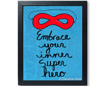Embrace Your Inner Super Hero print - superhero art giclee, boy, girl ...