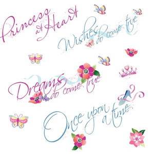 Disney Princess Quotes Wall Stickers
