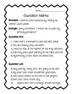 using quotations in essays worksheet