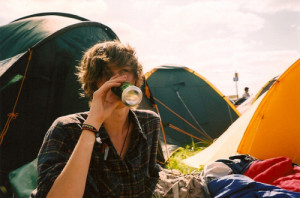 alcohol, boy, camping, can, drinking