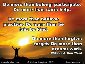 Post image for QUOTE & POSTER: Do more than belong: participate. Do ...
