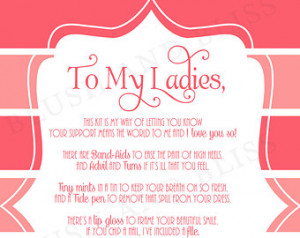 Custom Printable Bridesmaid Surviva l Kit Poem Card Digital File ...