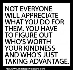 Unappreciative....