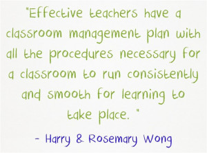 Harry Wong Classroom Management Quotes