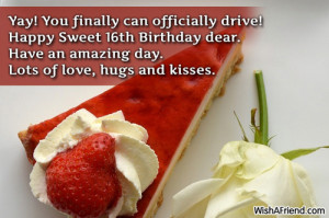 Funny Sweet 16 Birthday Quotes ~ 16th sweet birthday poems best friend ...