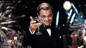 Leonardo DiCaprio toast as Jay Gatsby