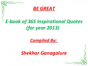202-BE A GREAT E BOOK OF 365 INSPIRATIONAL QUOTES (inspiring)