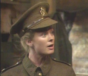 and Gabrielle Glaister as Bob Parkhurst in Black Adder goes Forth