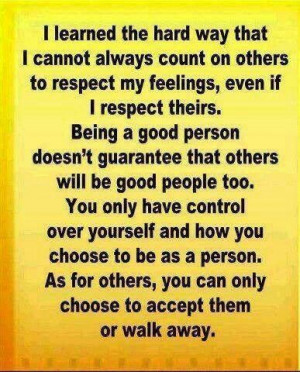 Can't control others