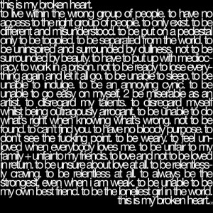 broken heart, brokenheart, hurt, life, love, quote