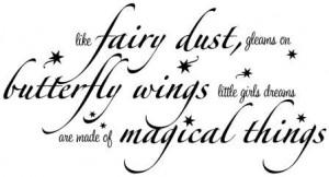 Like Fairy Dust Gleams on Butterfly Wings wall art decal vinyl ...