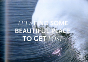 beach, lost, quotes, waves