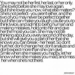 Don't take her for granted!!!