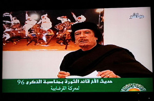speaking on television in the North African oil-rich state. Libya ...