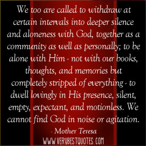 Mother Teresa Picture Quotes about God