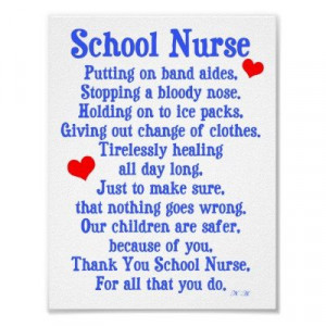School Nurse Poems