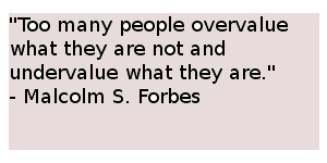 undervalue quote