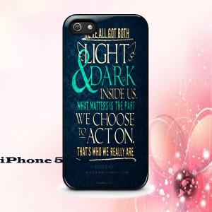 Light & Dark Sirius Black Quote Phone Case Back Cover