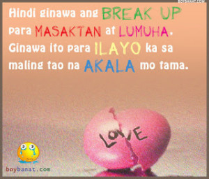 quotes about moving on after a break up tagalog