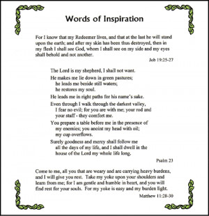Inspirational Poems For Funerals. Uplifting Poems For Funerals. View ...