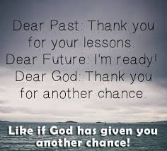 Thank you God for second chances.