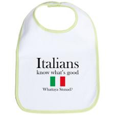 Cute Italian sayings Bib