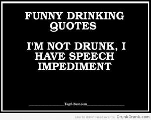 not drunk...