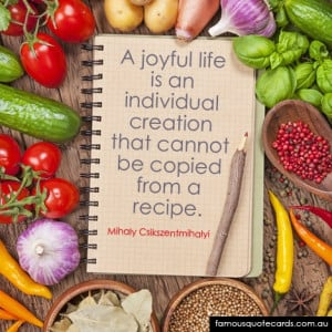 joyful life is an individual creation that cannot be copied from a ...