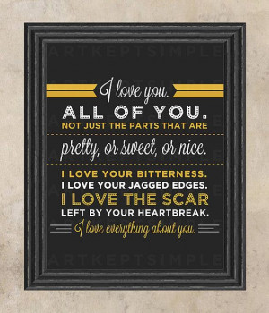 INSTANT DOWNLOAD Love Quote Poster Typography graphic design