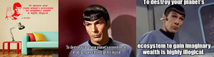 """Episode ID: When did Spock say """"To destroy your home planet's ..."""