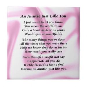 Auntie Poem Pink Silk Tile