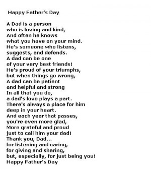 Father's Day Poems for Free -- Free Poetry, Poems for Dad